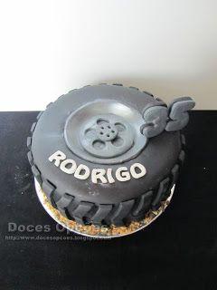 Doces Opções: Bolo de aniversário em forma de pneu