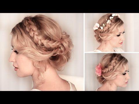 Tuto coiffure soirée/mariage ✿ Chignon bas facile à faire, cheveux mi long - YouTube