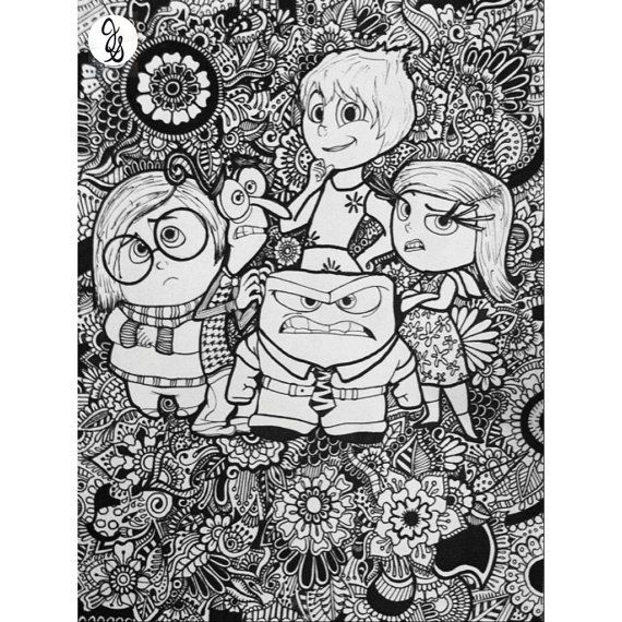 Inside Out Design By Byjamierose On Etsy Kids ColoringColoring BookColoring