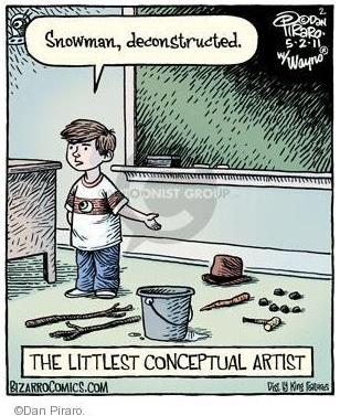 Conceptual Art -- Deconstructing a snowman
