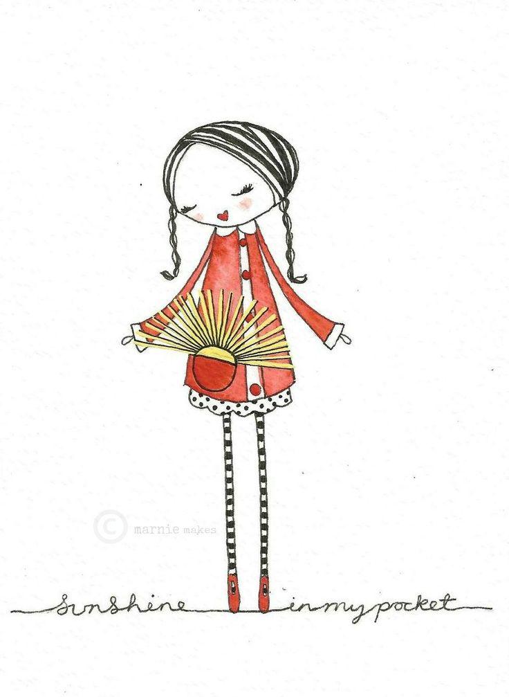 Sunshine in my pocket...illustration by me...
