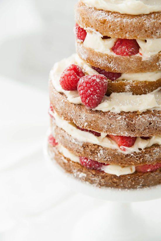 how to make a naked cake | designlovefest