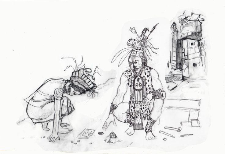 Carolyn Dee Flores - Pencil Sketch for chapter book JAGUAR