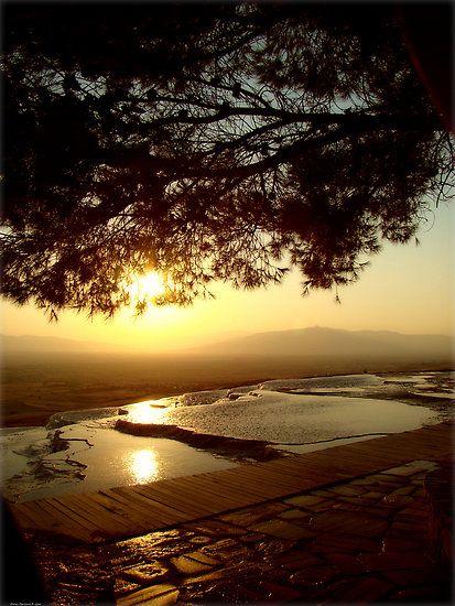 Sunset at Pammukale