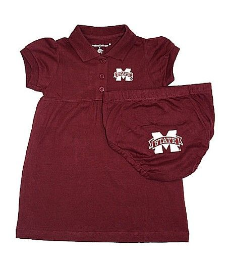 Mississippi State Baby Polo Dress with Matching Bloomers... This would happen only when they didn't play Ole Miss!