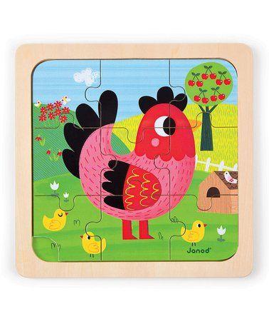Look what I found on #zulily! Violette Chicken Nine-Piece Puzzle #zulilyfinds