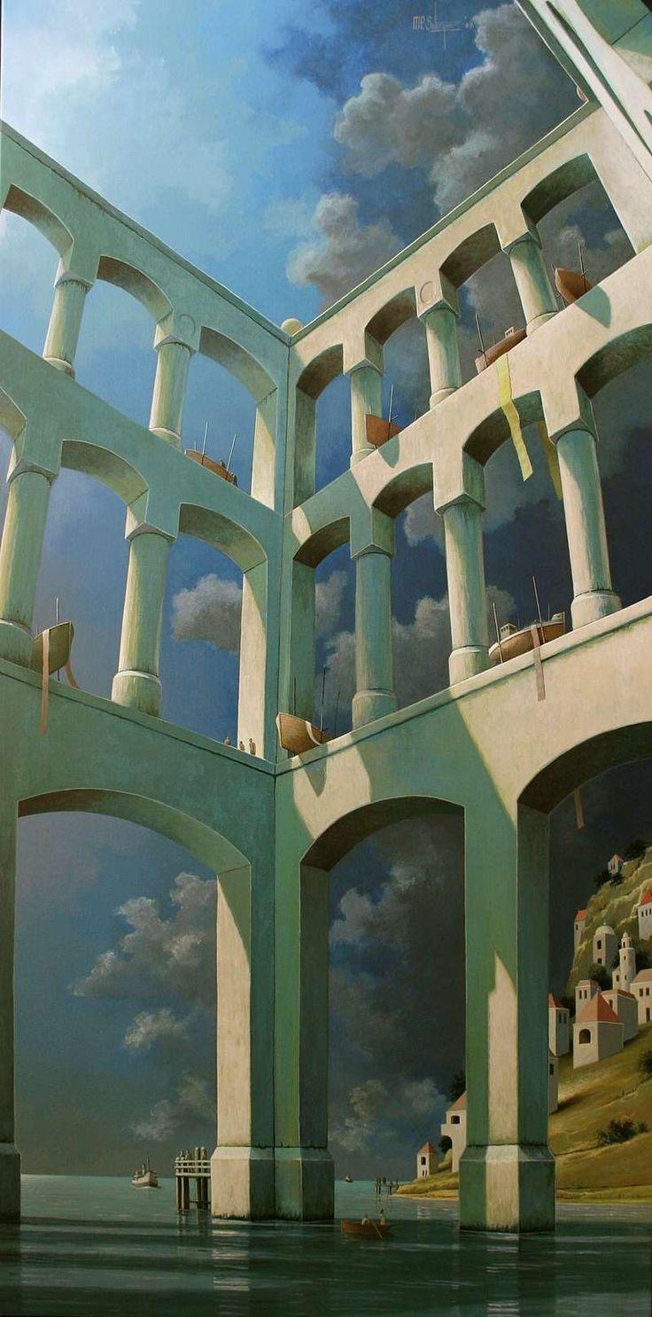 Michiel Schrijver - Ships of enjoyment. 200 x 100 cm. 2008