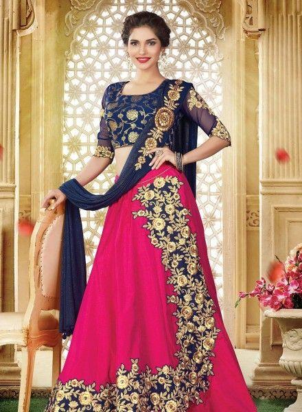 0062d6eb1a Royal Blue & Pink Lehnga Choli For Special Occasions | Indian women suites  | Silk lehenga, Lehenga, Lehenga choli