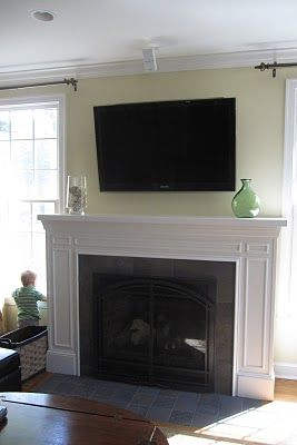 Remodelaholic » Blog Archive Fireplace Mantel Remodel with White Molding » Remodelaholic