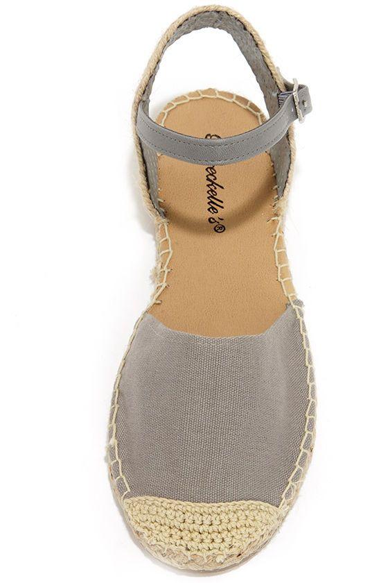 Sand Dollar Grey Espadrille Sandals at Lulus.com!