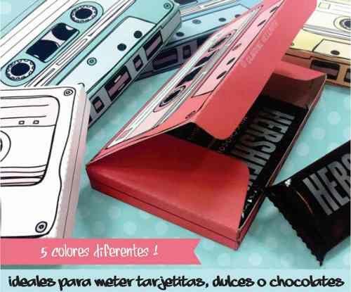 Cajitas Retro 80s En Forma De Cassette 5 Colores - $ 12.00 en MercadoLibre
