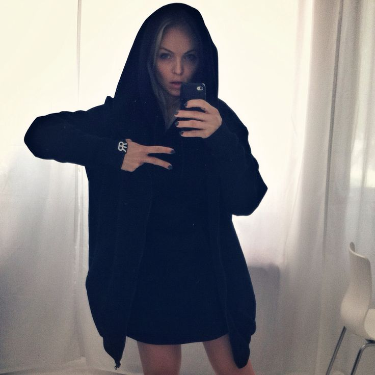 Candy girl wearing our Hoodie and Kangooro