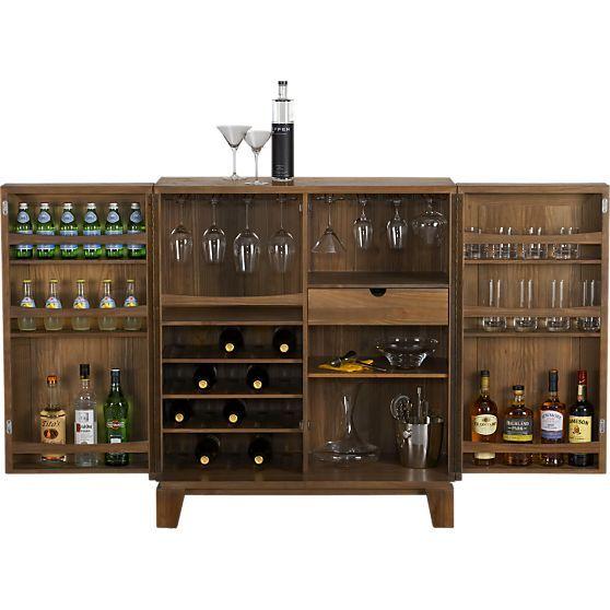 Marin Bar Cabinet in 15% off Bar Carts and Bar Cabinets | Crate and Barrel - Best 25+ Bar Cabinets Ideas On Pinterest Mini Bars, Wet Bar