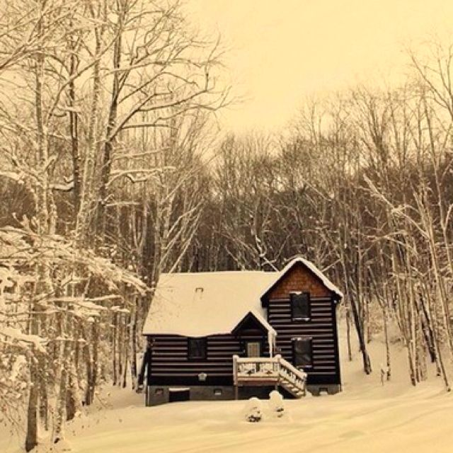 I just want to be snowed in somewhere for awhile : )