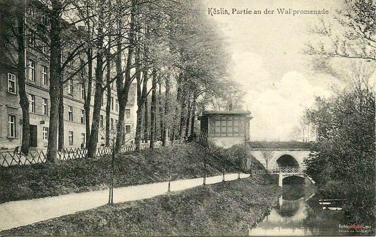 Park Książąt Pomorskich  (Park im. Przyjaźni Polsko-Radzieckiej), Koszalin - 1910 rok, stare zdjęcia