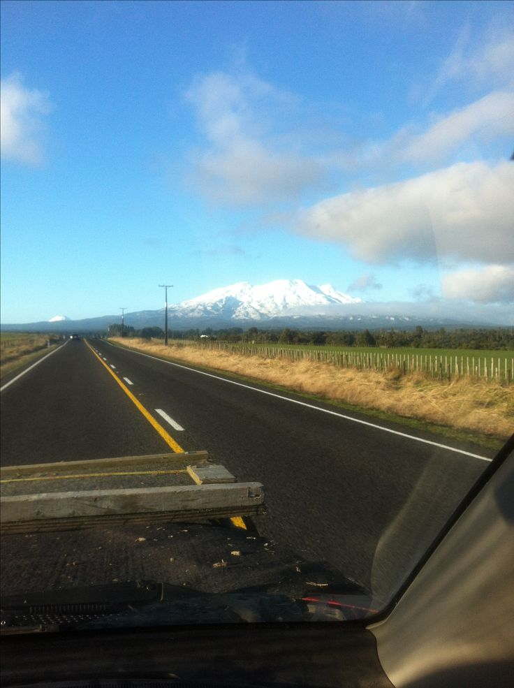 On my way home from work. Mt Ruapehu