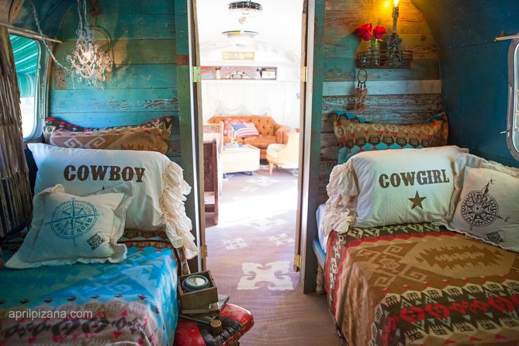 {dreamers lovers & troubadours » Photography by April Pizana} . . VINTAGE farmhouse Beadboard made partion walls in DIerks Bentley's airstream. . by the junk gypsies