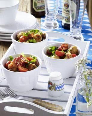 kn del salat mit speck rezept brunch food and backen. Black Bedroom Furniture Sets. Home Design Ideas