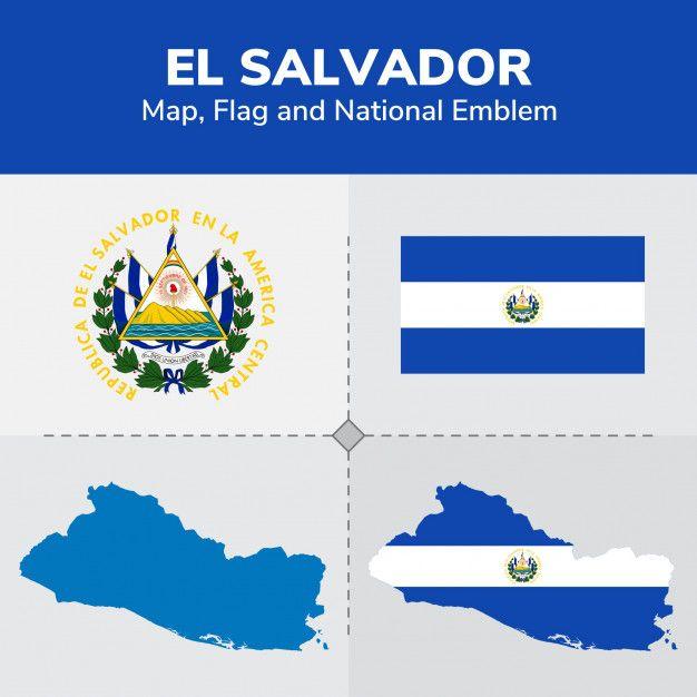 El Salvador Map, Flag And National Emblem | El salvador ...