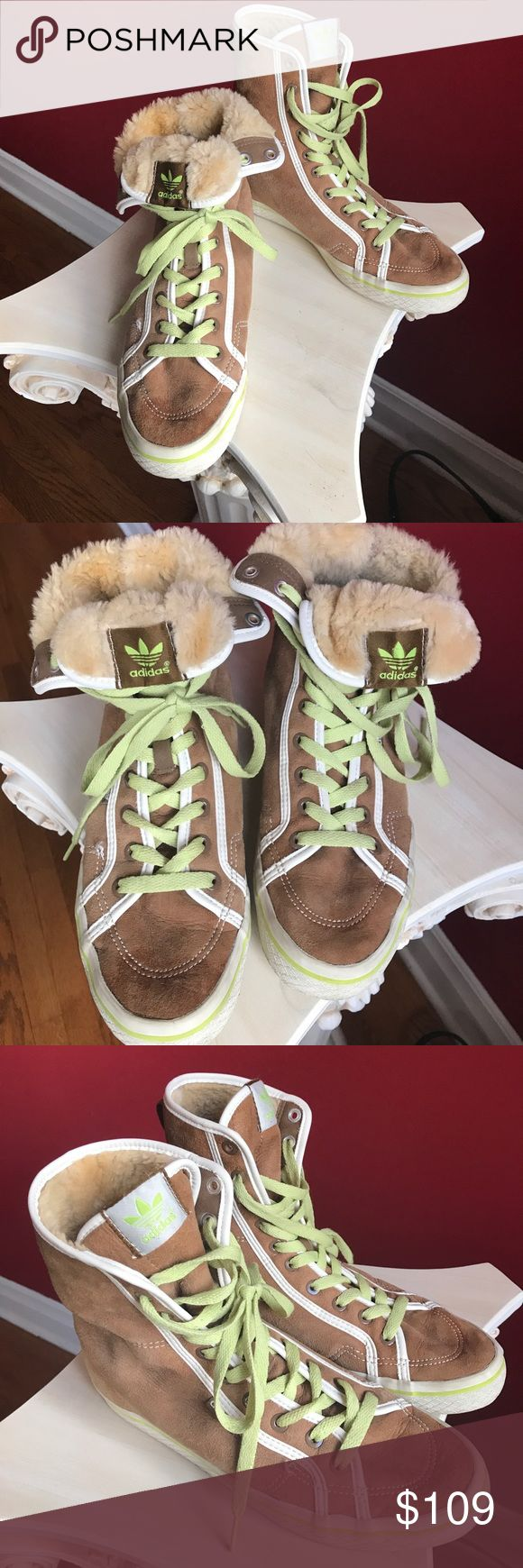 Fur lined Adiddas Wear your sneakers all winter long with keeping your tootsies wArm. Lined in sheepskin. Who says you have to forgo comfort for style. Adiddas Shoes
