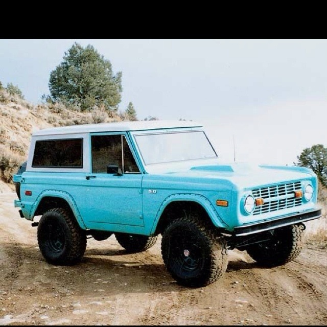 Baby Blue Bronco Ford Bronco Bronco Old Ford Bronco