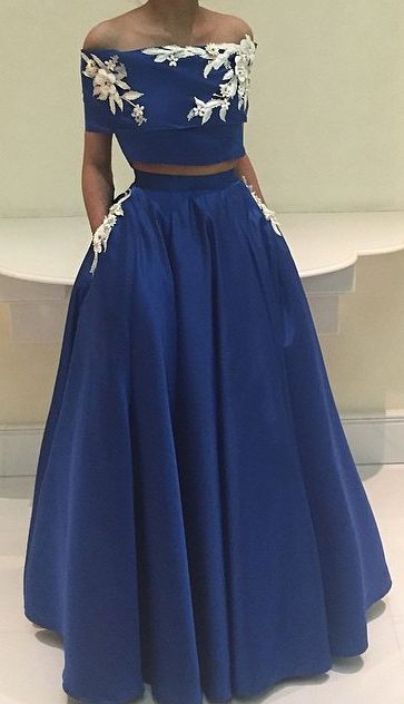 royal blue homecoming dresses, homecoming dresses royal blue, two piece…
