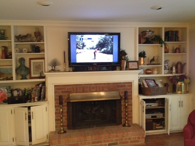 Built In Bookshelves Entertainment Cabinets Around Fireplace Bookshelves Pinterest