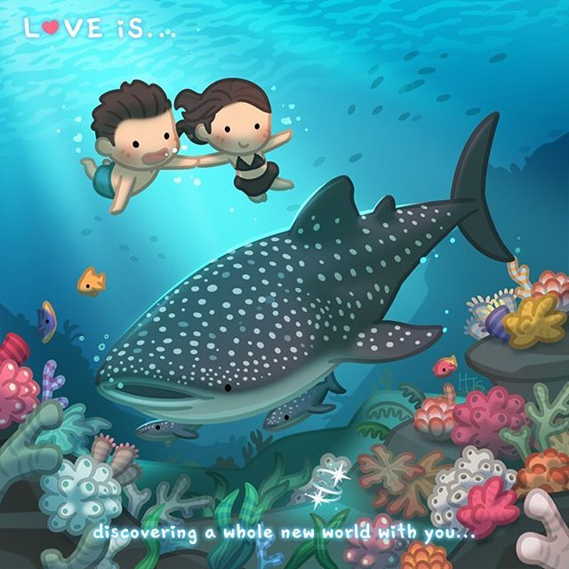 Love is... discovering a new world with you #hjstory #love #cute