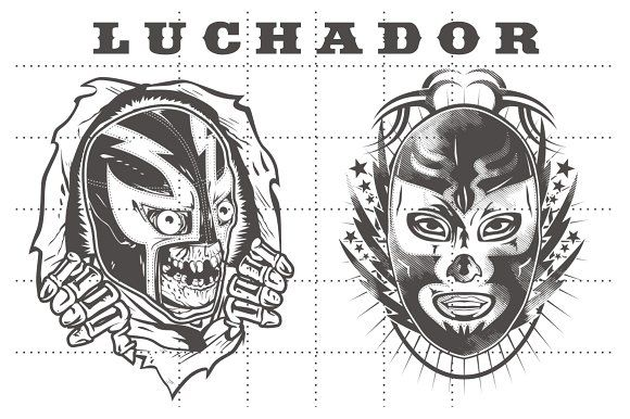 LUCHADOR PACK #2 by arace on @creativemarket