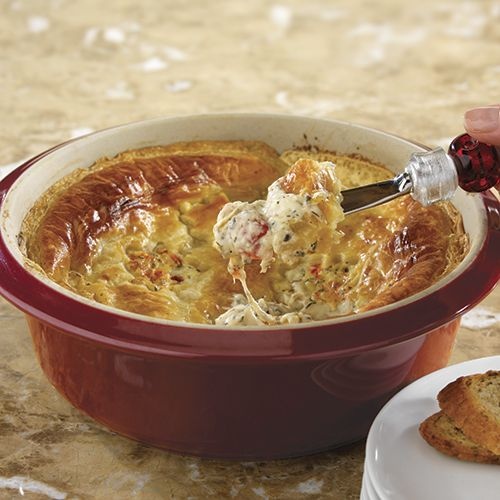 Hot & Cheesy Bruschetta Dip - The Pampered Chef® Delicious!  I serve this at my Wine, Cheese & Chocolate Shows!   www.pamperedchef.biz/cheftam
