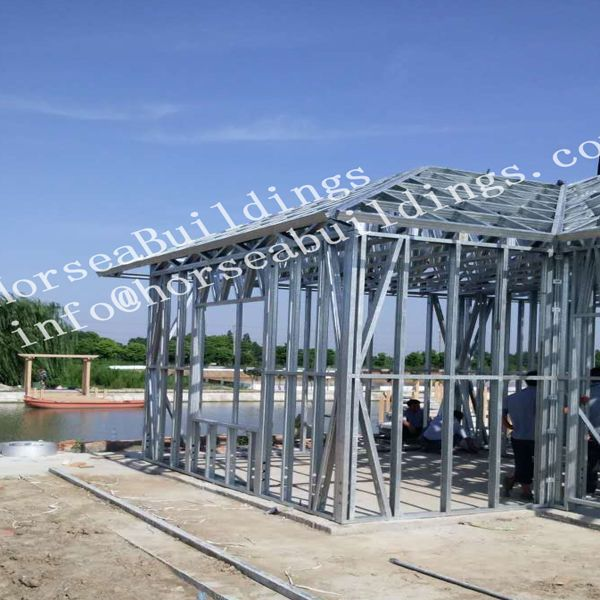 steel construction house built around lake, good building ideas, metal building homes, steel structure design