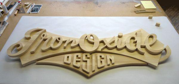 Iron Oxide Letters, designed by Michael Doret. Read the interview!: http://www.danthoniadesigns.com/blog/michael-doret/