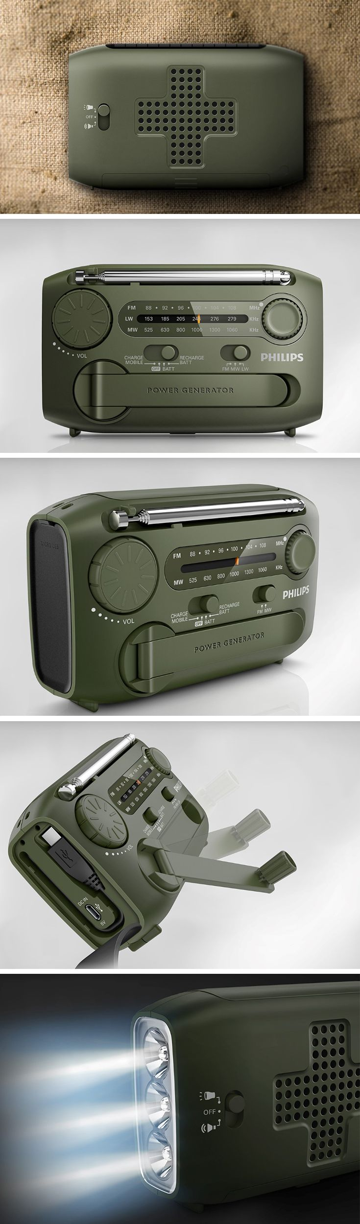 Designed to be everything your phone is not, this little olive green gadget can prove more than handy when you find yourself between a rock and a hard place. Designed with an FM, LW, and MW radio, a torch, an emergency siren, and a power bank to charge your smart devices, the Portable Survival Radio is literally a life-saver.