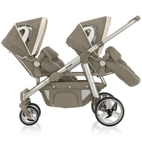 Brevi Ovo Twin Tandem Pram mud brown - Collection 2016