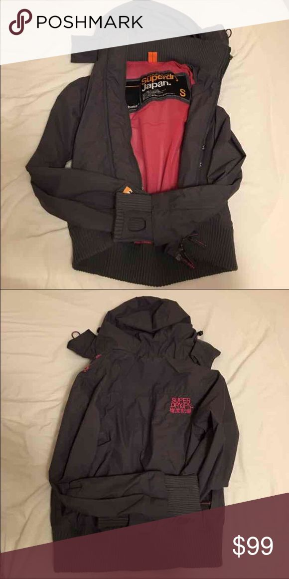 Superdry jacket Like new, worn only a couple of times, grey and pink! Cool and cute at the same time.  Price firm, no trades Superdry Jackets & Coats