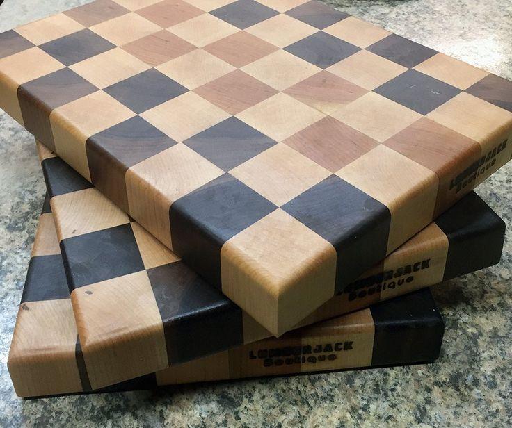 trigrain end grain cutting board walnut maple cherry butcher block