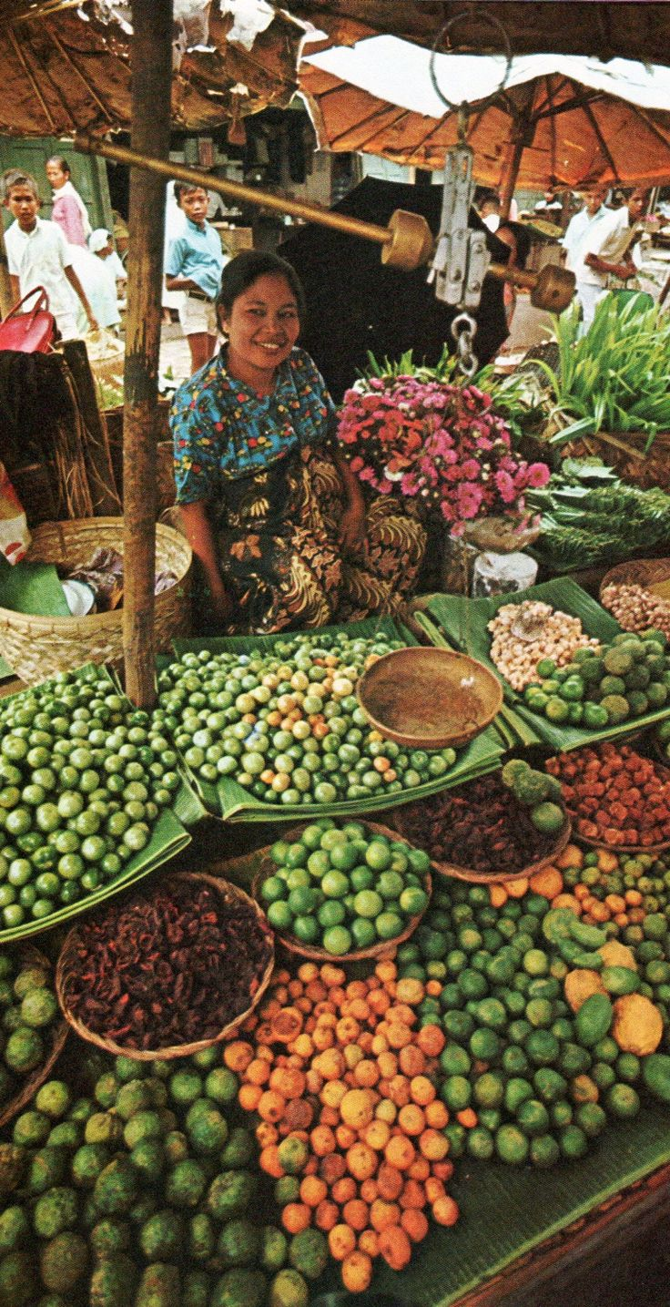 Traditional market, Indonesia