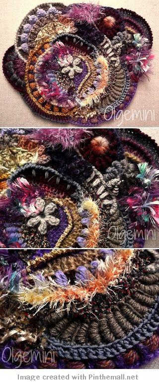 Olgemini Scrumble - #Freeform #Crochet - Inspiration! Click on link to get to Olgemini's blog -> http://olgemini.blogspot.com/2012/06/scrumble-megrim.html