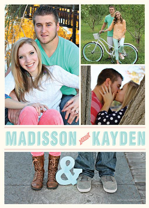 14 best Photo Collage Wedding Invitations images on Pinterest