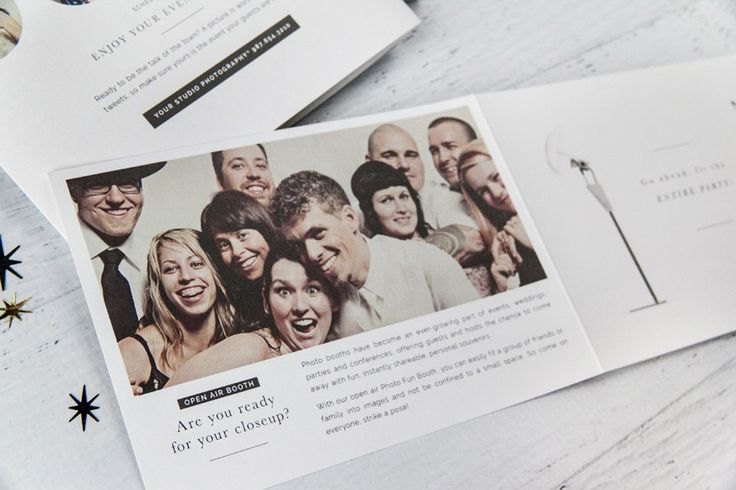 Studio Info & Marketing Brochures: Photo Booth Edition