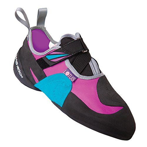 Cool Mad Rock Lotus Climbing Shoe - Women's Red Violet / Teal 8.5