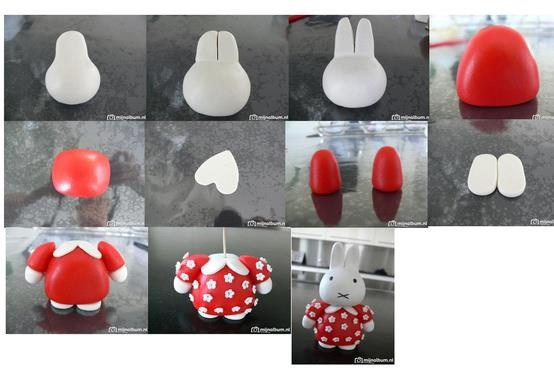 Fondant Miffy tutorial