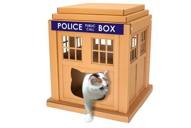 TARDIS These Elaborate Cardboard Boxes Are Exactly What Your Cat Needs | Mental Floss