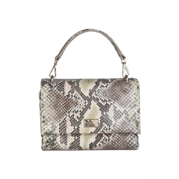 Cavalli Class – C00PW16C45B2  Clutch S/S Collection Women's bag has 1 removable handle, 1 removable shoulder strap, .magnetic fastening and a dustbag. Inside it, there are a zipped pocket, 2 patch pockets. It's outside and lining composed of leather and 100% CO, respectively. It is of size 20*14,5*8 cm.  https://fashiondose24.com