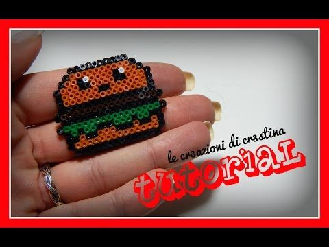 Tutorial Panino Kawaii Mc Donald's con Hamburger con Hama Beads - www.perlinedastirare.it - YouTube