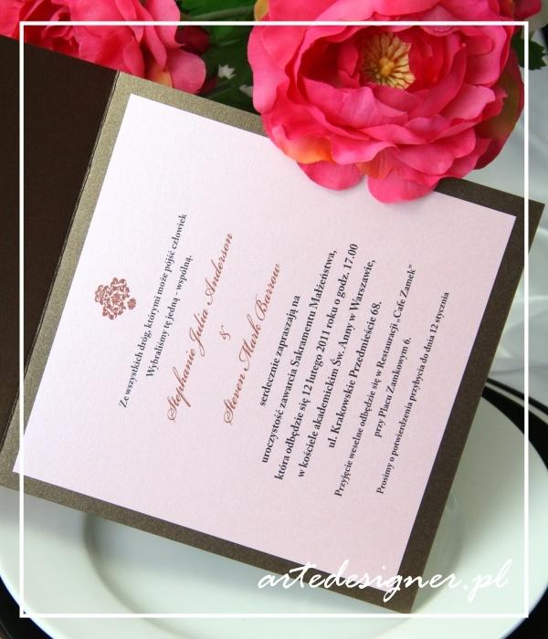 Zaproszenia ślubne Victoria / Victoria wedding invitation. Producy By / www.artedesigner.pl
