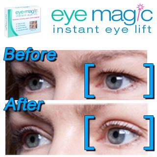 Eye Magic instantly shapes and defines drooping upper eyelids, without surgery. Look younger instantly and lift your old, droopy eyelids with Eye Magic!