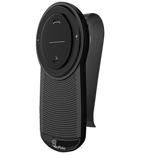 #Car Speakerphone VeoPulse B-PRO B with Bluetooth Automatic Cellphone Connection - Safe Hands-free Talking and Driving Wireless Technology - Compatible with All Cars and Bluetooth Phones Sleek Black