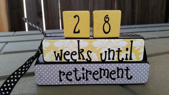 Retirement countdown blocks by DaisyBlossomCreation