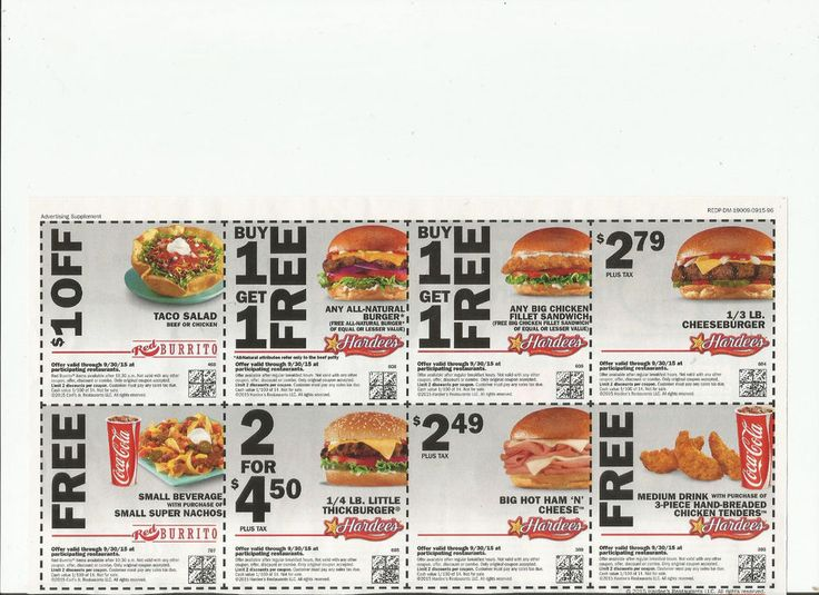Cheapies fast food coupons